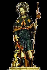 Statua lignea di San Rocco